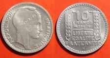 10 Francs Turin 1947.B (Grosse Tête) sup à spl (velours de frappe très prèsent!)