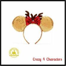 NEW Limited Edition Disney Parks Christmas Minnie Mouse Bow Sequin Ear Headband