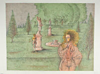 """""""Automn A Versailles"""" by Jean Carzou Signed Artist's Proof #32/150 AP Lithograph"""