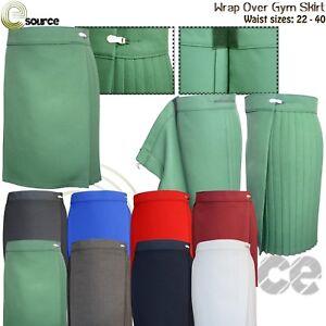 Gym Skirt School Uniform Girls PE Sports Wear Kilt Netball Ladies Wrapover Skirt