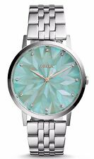 Fossil Vintage Muse Stainless Steel Green Dial Women's Watch ES4168 NWT
