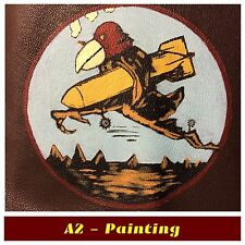 WW2 Hand Painted 351st Bomb Sqd Leather Patch For A2 G1 Flying Jacket