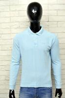 Polo Uomo FILA Taglia Size L Shirt Man Maglietta Camicia Maglia Celeste