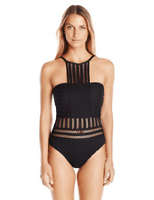 Kenneth Cole New York Tough Luxe High-Neck One-Piece 0506 Size XL