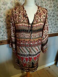 Indian tunic top Boho Gypsy Style New Free size Lounge wear