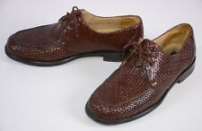 Avventura Men's Lace Up Shoes Size 10 M Woven Leather Brown Spain Career Classic