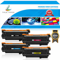 4x Toner Compatible for HP 504A CE250A Color Laserjet CM3530 CP3525 n dn CP3530