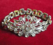 Vintage costume jewellery paste diamante rhinestone linked bracelet 11781