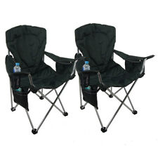 2 x Padded Folding Camping Picnic Arm Chair