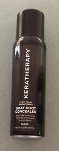 """KERATHERAPY Gray Root Cover Concealer Keratin Infused Black Color 180 m""""l 3 oz"""