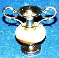 ANTIQUE Art Deco Onyx/Soapstone and Metal Candelabra Candle holder Vintage