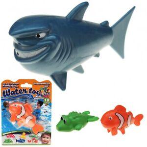 Wasserspielzeug Aufzieh Badetiere Hai Clownfisch Krokodil 3 Stück