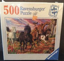 Ravensburger Puzzle Horses in the Canyon 500 Piece Sealed 18x24 Schriemer 81972