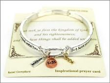 Dangling Charms ( 04510 ) Matthew 6:33 Stretch Bracelet With