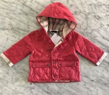 NWT Burberry  Jodie  Quilted Hooded Puffer Jacket Baby Girl 9 Months Pink   175 c82bace701