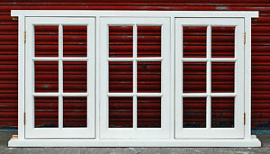 Traditional Timber Georgian Style Triple Casement Window Made To Measure!