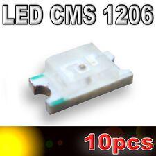 107/10# LED CMS 1206 Jaune 160mcd - SMD yellow - 10pcs