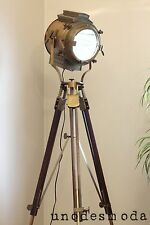 TRIPOD FLOOR LAMP BIG! Nautical Brass Signal Rustic Search Light : RRP $1499