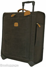 """Bric's Life 27"""" Trolley with Suiter, Olive, Rolling Suitcase w/ Leather Trim NEW"""