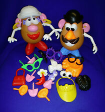 VINTAGE TOY STORY MR & MRS POTATO HEAD WITH ACCESSORIES PLAYSKOOL