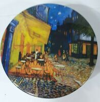 Vintage Maurice Lenell Cookie Tin Empty Cafe Terrace At Night c 1888