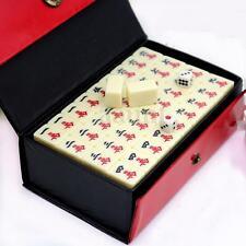 Vintage Portable Mini Mahjong Rare Game Chinese 144 Tiles Mah-Jong Set With Box