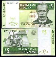 MALAWI 5 KWACHA 2005 P 36 UNC