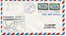 FFC 1959 First Flight Tegucigalpa-Miami Primer Vuelo Pan AM Fort Worth