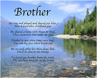 Personalised Brother Poem Birthday Christmas Christening Gift Present