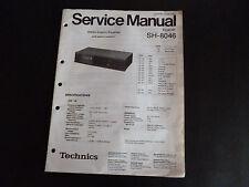 Original Service Manual Technics Equlizer SH- 8046