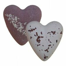 "Twin pack Large Bath Bombs megafizz heart  ""After dark ""   Chocolate, coconut!"