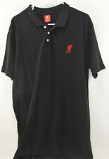 LIVERPOOL FC ADULT BLACK / RED POLO SHIRT OFFICIAL | Men's XL