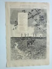 1885 Xilografía: El Burro Flautista dibujo original de D. Martin Rico