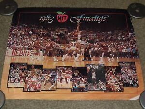 Vtg 1983 Nebraska Basketball Poster NIT FINALISTS Dave Hoppen Huskers RARE NEW