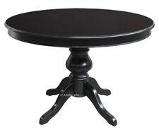 Table ronde noire avec rallonge – diamètre 110 cm