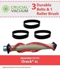 Replacement Oreck XL Roller Brush & 3 Belts Part # 016-1152 75202-01 XL010-0604