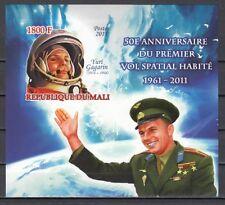 Mali, 2011 issue. Cosmonaut Yuri Gagarin, IMPERF s/sheet.