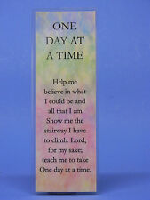 SOBRIETY BOOKMARK - ONE DAY AT A TIME  - RECOVERY