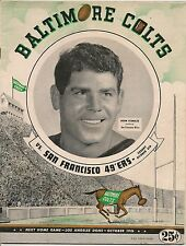 1947 Baltimore Colts-49ers AAFC Program Clubs End in Deadlock RARE!!