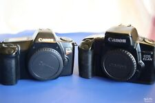 2 canon SLR film camera lot EOS ELAN and EOS Rebel body only