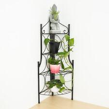 Tectake Etagère de Jardin pour Plantes Escalier en fer 4 niveaux | Env. 30x30x1