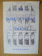 DUKE OF YORK'S THEATRE PROGRAMME First Perform 1954- THE FACTS OF LIFE