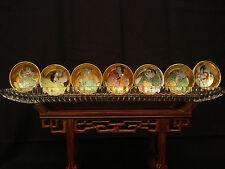 MARKED Kutani JAPANESE SHOWA KUTANI MINIATURE BOWL / CUP  WITH GLASS HOLDER S/7