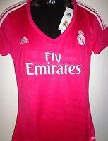 REAL MADRID Jersey Maillot Camiseta 2XS-XL ADIDAS Mujer/Mujer CilmaCool Fucsia