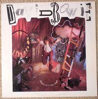 NM- DAVID BOWIE ROCK LP - NEVER LET ME DOWN !! W/ ORIG LYRIC INNER SLEEVE !!