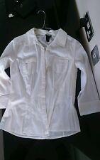 H&M white shirt blouse 36