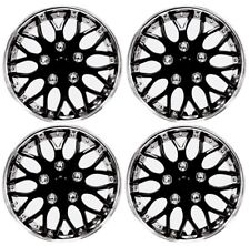"Wheel Covers 13"" Black / Chrome, Premium Quality Hubcap, (Pack of 4)"
