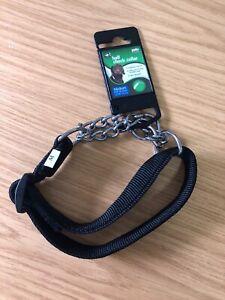 Half Check Dog Collar Medium, Black