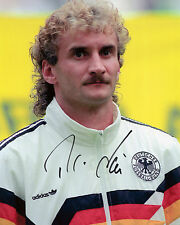 Rudi Voller - West Germany - Italia'90 -  Signed Autograph REPRINT