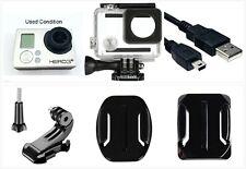 Used GoPro Hero 3+ Plus Silver 1080P 10Mp Sport Camera Camcorder waterproof Case